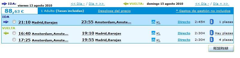Vuelo a Amsterdam