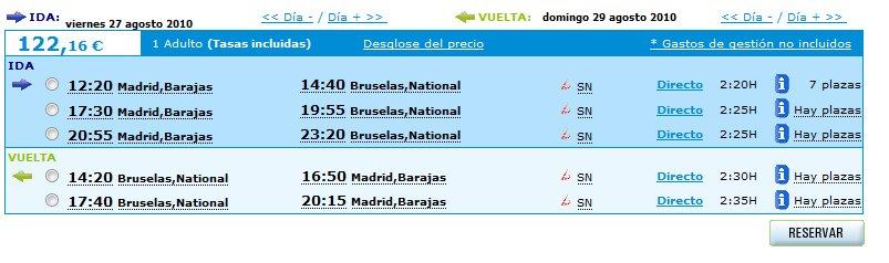 Vuelo a Bruselas