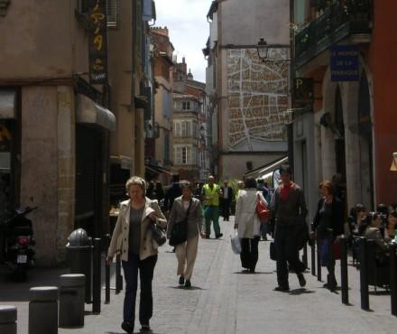 Una calle del centro de Toulouse