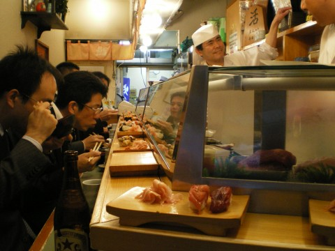 Desayuno sushi Tsukiji