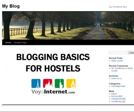 Hostel blogging