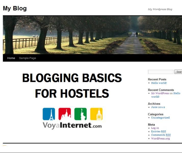 Hostel blogging